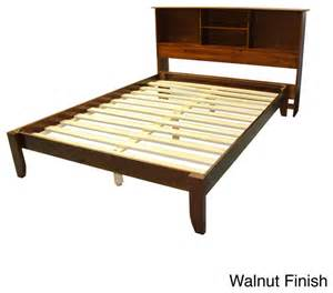 King Size Platform Bed With Headboard Scandinavia King Size Solid Wood Platform Bed With Headboard Bookcase Contemporary