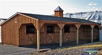 4 stall barn shedrow barns shed row barns horizon structures