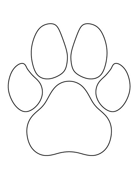 footprint pattern template best 25 paws ideas on paw prints