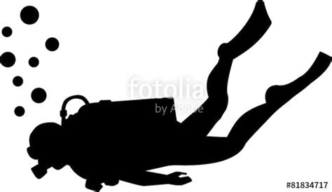 quot scuba diving silhouette quot stock image and royalty free