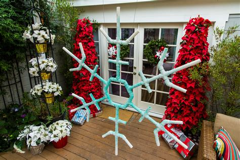 ken s diy christmas outdoor snowflakes