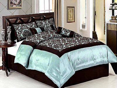 blue queen size comforter 7 piece queen size comforter set royal garden light blue
