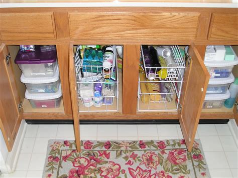 organize bathroom cabinet sink the sink storage ideas inspirationseek com