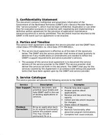 cloud service level agreement template service level agreement 13 free pdf word psd