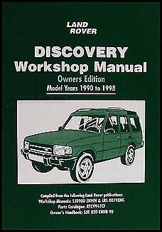 free download parts manuals 2003 land rover discovery on board diagnostic system land rover discovery owners shop manual 1998 1997 1996 1995 1994 1993 1992 1991 ebay