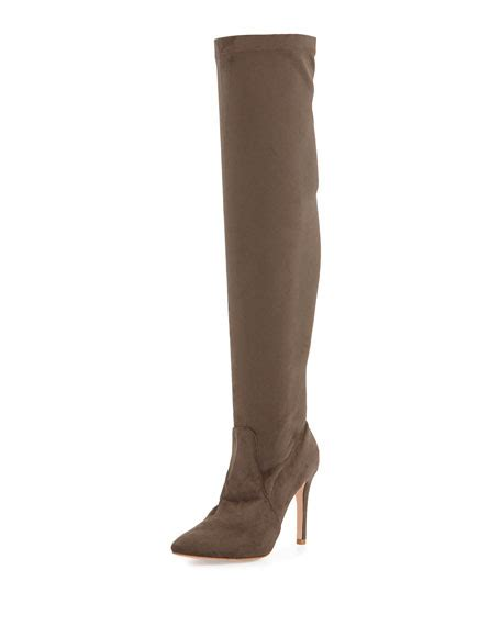 joie faux suede stretch boot taupe