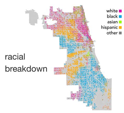 chicago map by race instagram s blind spot