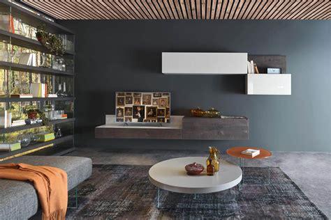 pareti soggiorno attrezzate mobili per soggiorno moderni arredamento salotto lago