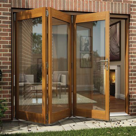 Patio Door Installation Diy by Oak Veneer Glazed Folding Sliding Patio Doors H 2105mm