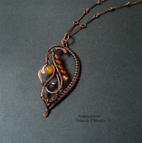 wire wrapped pendant tutorial copper beaded necklace wire wrapped jewelry tutorials
