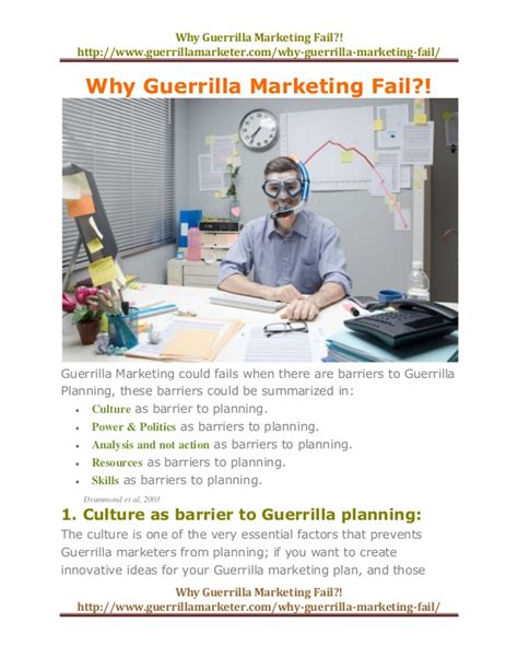 Why Guerrilla Marketing Fail Guerrilla Marketing Plan Template