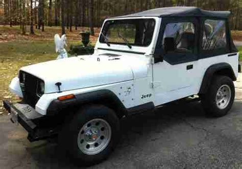 1989 Jeep Wrangler Soft Top Sell Used 1989 Jeep Wrangler 2 4l 4 Cylinder Soft Top