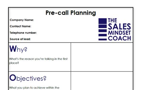 sales call planning template ygvdf new free sales plan templates
