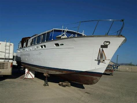 boat salvage san diego 1960 chris craft boat for sale at copart san diego ca lot