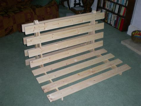homemade futon how to make a fold out sofa futon bed frame