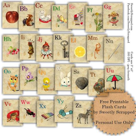 cute printable alphabet flash cards sweetly scrapped free printable abc flash cards