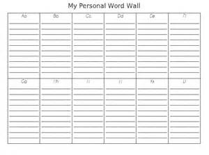 Printable Word Wall Template by A For Teaching Personal Word Wall