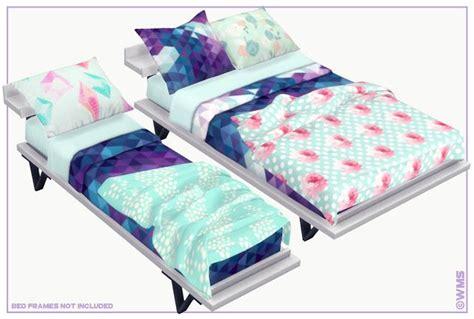 elysian bedding set wildlyminiaturesandwich decoration sims  beds sims  mods sims  cc