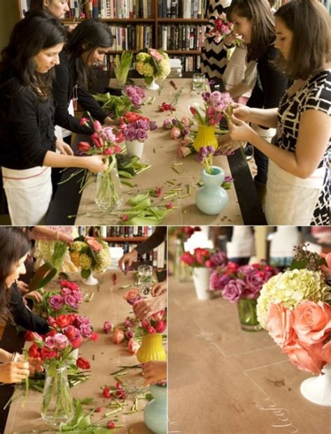 flower arranging class unique bridal shower ideas flower arranging class