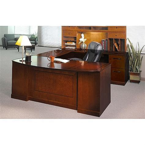 Executive U Shaped Desk Sorrento Executive U Shaped Desk Suite W Pbf Ff Drawer Pedestals