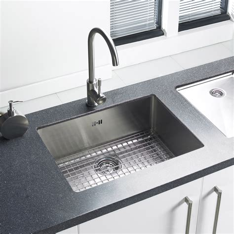 Stainless Steel Kitchen Sinks Uk Astracast Onyx 4054 1 0 Bowl Brushed Stainless Steel Undermount Kitchen Sink