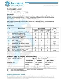 technical data sheet polymer modified bitumen pmb e