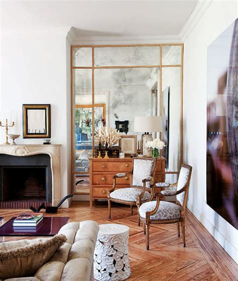 mirrored walls in living rooms luis puerta via la dolce vita living room mirror mirrored walls and alcove