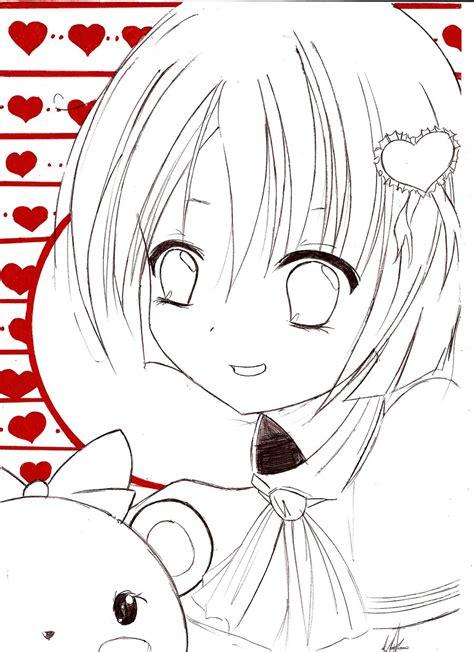 anime kawaii girl oc by razor sensei on deviantart coloring pages kawai anime girl oc lineart by razor sensei on deviantart