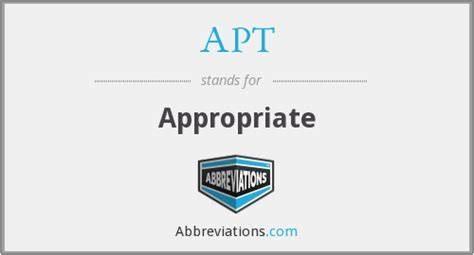 appartment abbreviation apt appropriate