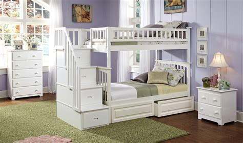 atlantic furniture columbia staircase bunk bed twin