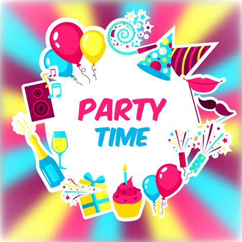 party time background   vectors clipart