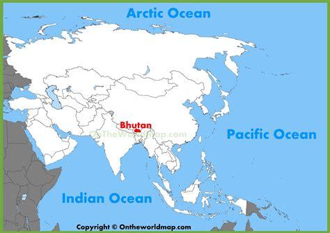where is bhutan on a world map bhutan location on the asia map