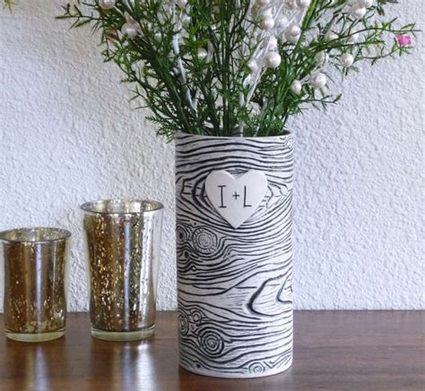 Personalised Vases by Personalized Faux Bois Porcelain Vase By Jade Flower