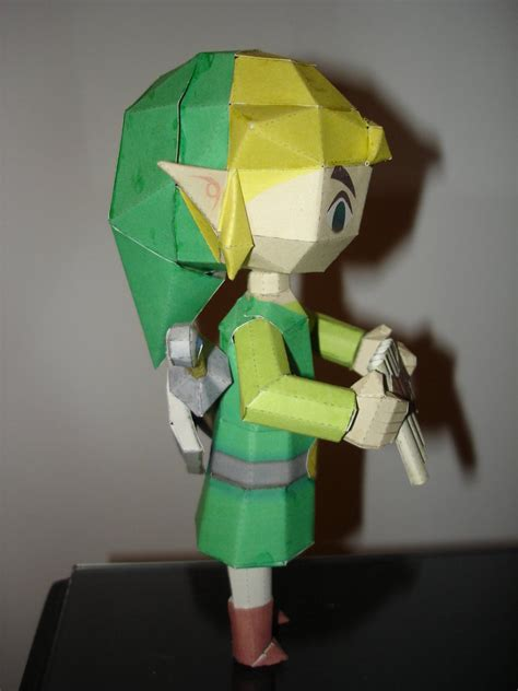 Papercraft Link - spirit tracks link papercraft by brunopigh on deviantart