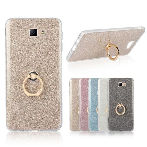 Samsung J7prime Softcase Gliter Gambar for samsung galaxy j7 prime 5 5 inch transparent soft tpu glitter metal ring back