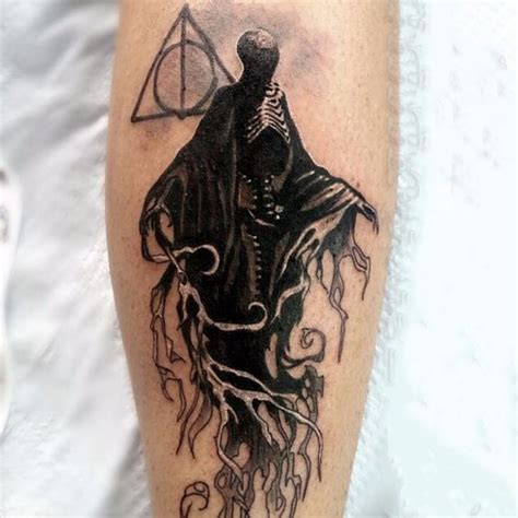 dementor and deathly hallows tattoo idea