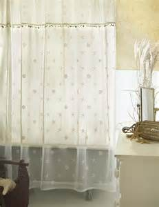 Sand shell shower curtain and valance set heritage lace 7175e ocst