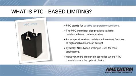 ptc resistor temperature limiting limiting inrush current with ntc and ptc thermistors