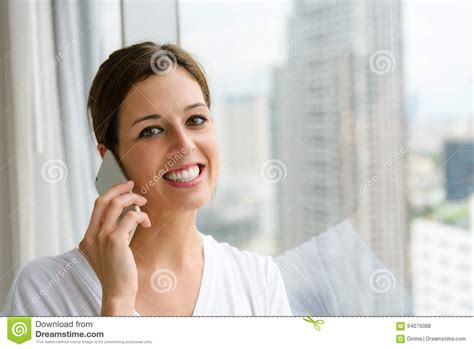 on phone call at home stock photo image 64076088