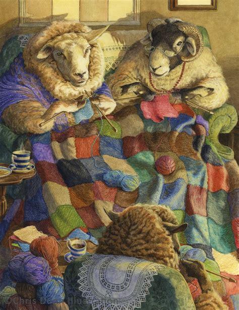 the knitting circle chris dunn illustration