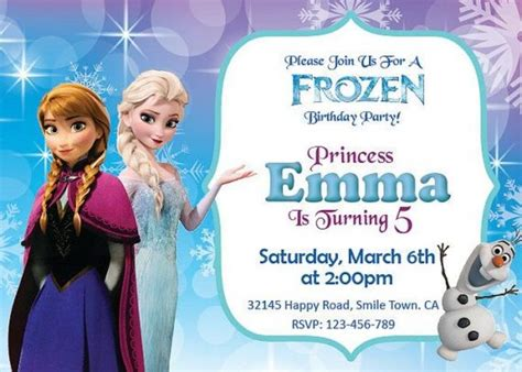 frozen printable editable invitations 25 best ideas about free frozen invitations on pinterest