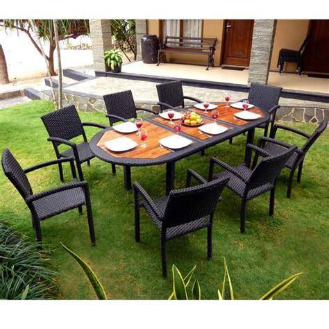 salon jardin promotion meuble en teck de jardin salon de jardin teck et r 233 sine tress 233 e fauteuils de jardin