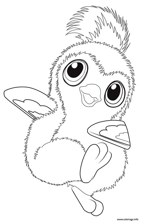 coloring page hatchimals coloriage cute pengualas from hatchimals jecolorie com