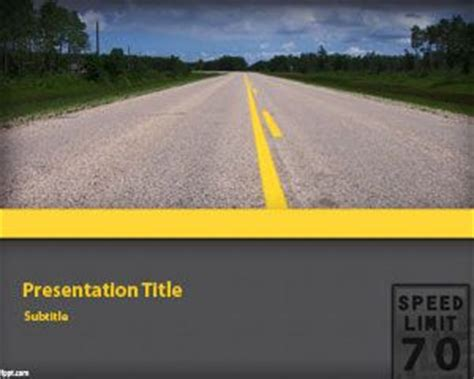 powerpoint templates free download transportation free highway powerpoint template