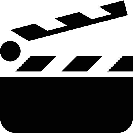 Clapper Light Clapperboard Icon Free Png And Svg Download