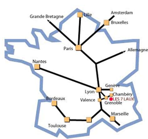 LOCATION SKI PRAPOUTEL LES 7 LAUX   Accès à la station de Prapoutel.
