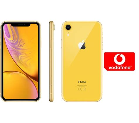 buy apple iphone xr pay    micro sim card bundle  gb yellow  delivery currys