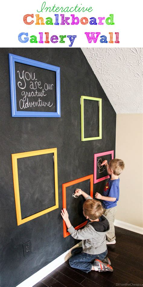 chalkboard paint toddler room playroom interactive chalkboard gallery wall erin spain