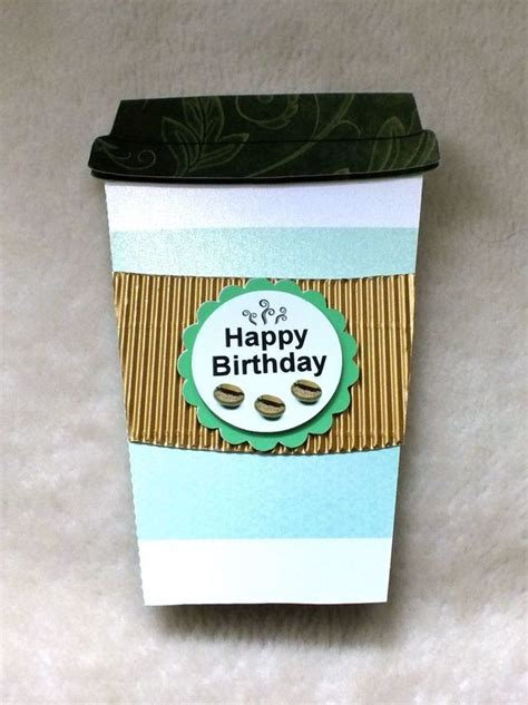 Handmade Coffee Cup handmade coffee cup shaped birthday card folksy