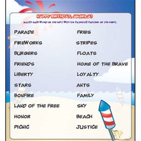 printable 4th of july games fourth of july patriotic matching game printable tip